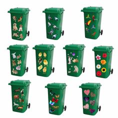 Quality full colour wheelie bin/wall stickers as per the above images. Kitchen Wall Stickers, Letter Wall Stickers, Nursery Wall Stickers, 3d Butterfly Wall Stickers, Wall Decal Sticker, Vinyl Decals, Painted Trash Cans, Wheelie Bin Stickers, Pvc Banner