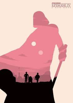 Minimalist Poster for Star Wars Episode IV - A New Hope.