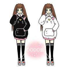 Aliexpress.com   Buy Girl s Sailor Moon Luna Cat Pattern Hoodies  Sweatshirts Long Sleeve Crew c24b3fe87a1df