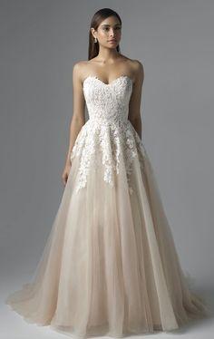 Featured Dress: Mia Solano; Wedding dress idea.