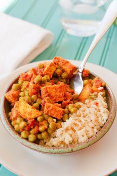 Mattar Tofu (vegan + gluten-free)