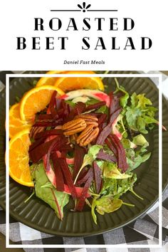 This salad is packed with nutrition, but it's also absolutely delicious and easy to make! Easy Healthy Recipes, Easy Dinner Recipes, Breakfast Recipes, Vegetarian Recipes, Easy Meals, Roasted Beet Salad, Beet Salad Recipes, Daniel Fast Recipes, Nutrition
