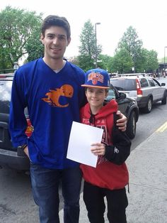 Carey taking the time for a pic with a young fan! #careyftw #canadiens #montreal