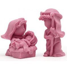 Molde de silicona para jabones de navidad, Pesebre, para hacer un nacimiento en 3D. Ideal para hacer con niños. DIY.