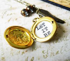 beatles accessory/beatles necklace/Locket necklace by akinto, $18.00