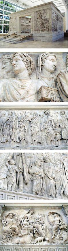 """Ara Pacis"" de Augusto. Año  13 a.C. Mármol. Roma."