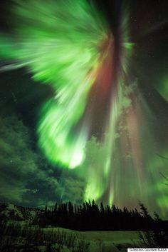 Absolutely stunning aurora over Alaska