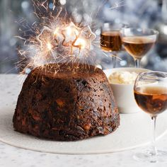 A traditional Christmas pudding is easy to make, packed with fried fruit, nuts, ginger and the alcohol of your choice.