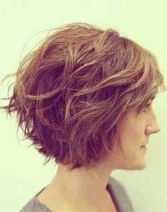 Messy short hair! Love it.
