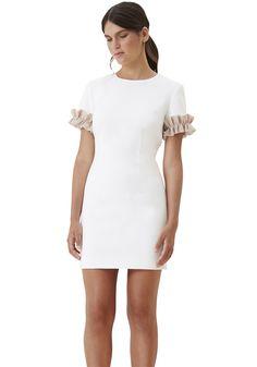 BY JOHNNY. Ruffle Sleeve Tee Mini Dress | Contemporary Australian Womenswear