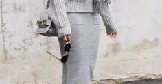 figtny.com | Grey Layers... | STYLE | Pinterest | Grey, White Sneakers and Grey Outfit