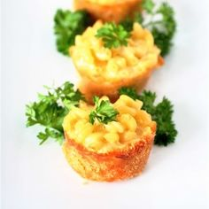 Mini Mac and Cheese Pies-the ultimate comfort food in portable form for a virtual baby shower