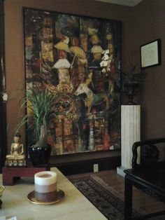 Living Room Portland Vintage Contemporary Indonesian Painting Picasso  Graphics On Choco Walls Chic And Sexy Room. Interior Design JobsOriental ...