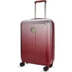 Delsey Helium Air 2 four-wheel cabin suitcase 55cm ($179) ❤ liked on Polyvore featuring bags and luggage
