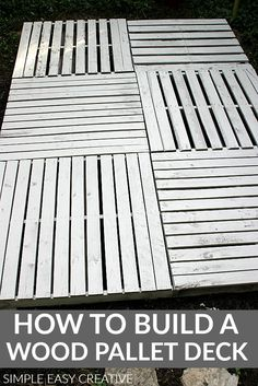 HOW TO BUILD A WOOD PALLET DECK #woodpallet #diywoodpalletdeck #woodenpallet