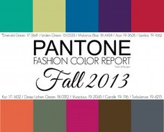 Pantone Fall 2013 Color Report: The go-to site for all the latest in color fashion! Fall Fashion Colors, Colorful Fashion, Autumn Fashion, Fashion Line, Look Fashion, Fashion Blogs, Mykonos Blue, Premier Designs Jewelry, Pantone Color
