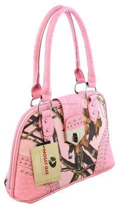 Mossy Oak Pink / Pink Camo Concealment Buckle Purse Wild Camouflage Bling Bag 09 #VeraHandbag #EveningBag
