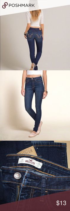 Dark Hollister high waisted jeans In good condition Hollister Jeans Skinny