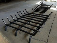 Forged fireplace grates