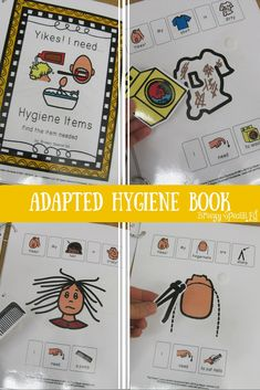 This book is a MUST HAVE to work on essential hygiene and life skills that our special education students need to know. Life Skills Lessons, Life Skills Activities, Life Skills Classroom, Teaching Life Skills, Autism Activities, Special Education Classroom, Preschool Lessons, Education Jobs, Autism Classroom