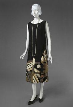 Striking Evening Dress designed by noted artist Natalia Goncharova, 1926. The Philadelphia Museum of Art.