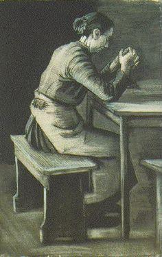 Vincent van Gogh: Woman Praying The Hague: April, 1883 (Otterlo, Kröller-Müller Museum)