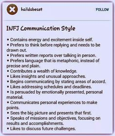 Infj communication style