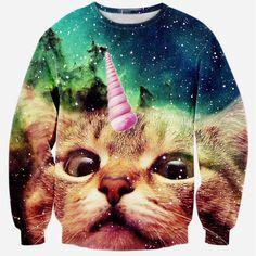 $14 ---- Alisister 2015 new fashion men/women's unicorn cat hoodie winter/autumn 3d galaxy sweatshirts clothes harajuku animal sweatshirt-in Hoodies & Sweatshirts from Women's Clothing & Accessories on Aliexpress.com | Alibaba Group