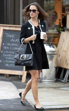 Adorable Cropped Jacket Over Black Dress