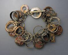 Bracelet   Temi Kucinski. Sterling silver, bronze and copper