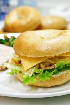 #homemade #bagel #sandwich