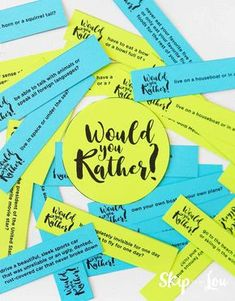 Would you rather questions you can print or scroll through on your phone! would you rather questions. A fun family friendly game to play with [. Would You Rather Game, Would You Rather Questions, Therapy Games, Therapy Activities, Therapy Tools, Group Activities, First Day Of School, Back To School, School Stuff