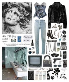 """I can't enter the atmosphere without your dope"" by nothingisnormal ❤ liked on Polyvore featuring Vivienne Westwood Red Label, David Yurman, RE/DONE, Acne Studios, NOVICA, Rochas, CASSETTE, Christian Dior, Alexander McQueen and Market"