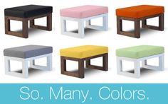Loving Monte's Joya #Ottoman that comes in sooo many #color options!