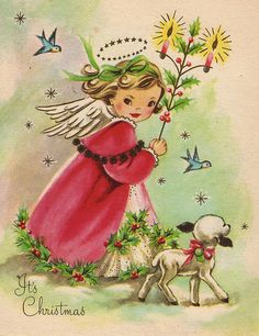 fete noel vintage gifs images - Page 40 Old Christmas, Old Fashioned Christmas, Christmas Scenes, Vintage Christmas Cards, Retro Christmas, Vintage Holiday, Christmas Pictures, Christmas Angels, Xmas Cards