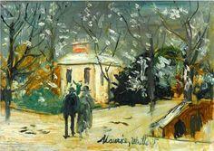 Maurice Utrillo, Scène de rue on ArtStack #maurice-utrillo #art