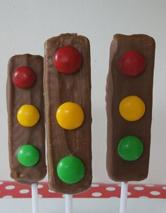 traffic light party treats - easy to make and  taste great.  Step by step photo tutorial.