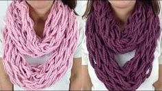 DIY Learn How To - Easy Arm Knitting & Finger Knitting (Knit with Arms Fingers Inifinty Scarf Cowl) - YouTube
