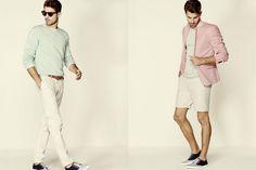 White shorts fashion. Neutral tones  Look book FashionBeans.com
