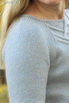 Плечевая вытачка при вязании рукава реглан