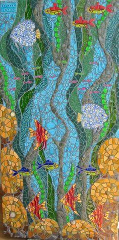 Wasser Göttin Mosaik Bild von Waschbear Designs auf DaWanda.com