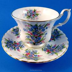 Royal Albert Springtime Series Forget Me Not Tea Cup and Saucer Set | Pottery & Glass, Pottery & China, China & Dinnerware | eBay!