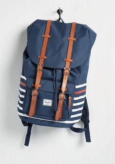 Expedition Mission Backpack in Americana by Herschel Supply Co. - Blue, Stripes, Work, Casual, Beach/Resort, Menswear Inspired, Fall,…