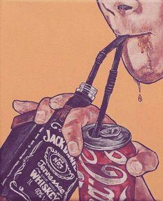 Jack Daniels /Coca Cola art