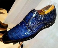 Handcrafted Men's Double Monk Strap Genuine Alligator Leather Shoes Hot Shoes, Men's Shoes, Dress Shoes, Mens Shoes Boots, Shoe Boots, Leather Shoes, Derby, Gentleman Shoes, Double Monk Strap