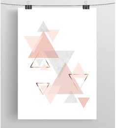 Peach and Copper Printable Art Scandinavian Print by PrintAvenue