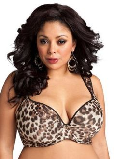 339976ffd51ef Ashley Stewart Women s Plus Size Leopard Print Plunge Bra