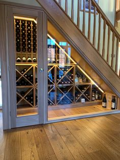 Best custom wine cellar under stair for your house renovation, contact us for 300+ wine racking ideas to select.