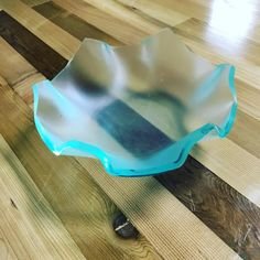 Turns out if you heat acrylic and shove it into a bowl cool things happen! #happyaccidents #randd #notwhatiintended #newpossibilities #lasercut #acrylic by artifacturestudios