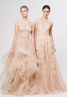 Deep V Cap Sleeves Sweetheart Pink Lace Applique Tulle Sheer Wedding Gown 2014 Cheap Vintage A Line Reem Acra Blush Bridesmaid Dresses Bridesmaid Dresses, Prom Dresses, Formal Dresses, Blush Dresses, Dress Prom, Bridesmaids, Bridesmaid Colours, Ruffled Dresses, Dresses 2014
